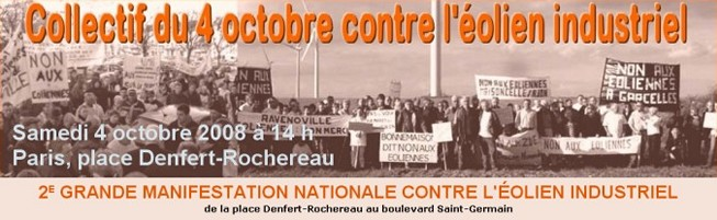 Collectif du 4 octobre contre l'�olien industriel